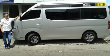 vehicle for  Pick up around 8:30 am for city tour at any place in San Jose or Alajuela